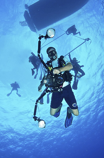 taking picture underwater