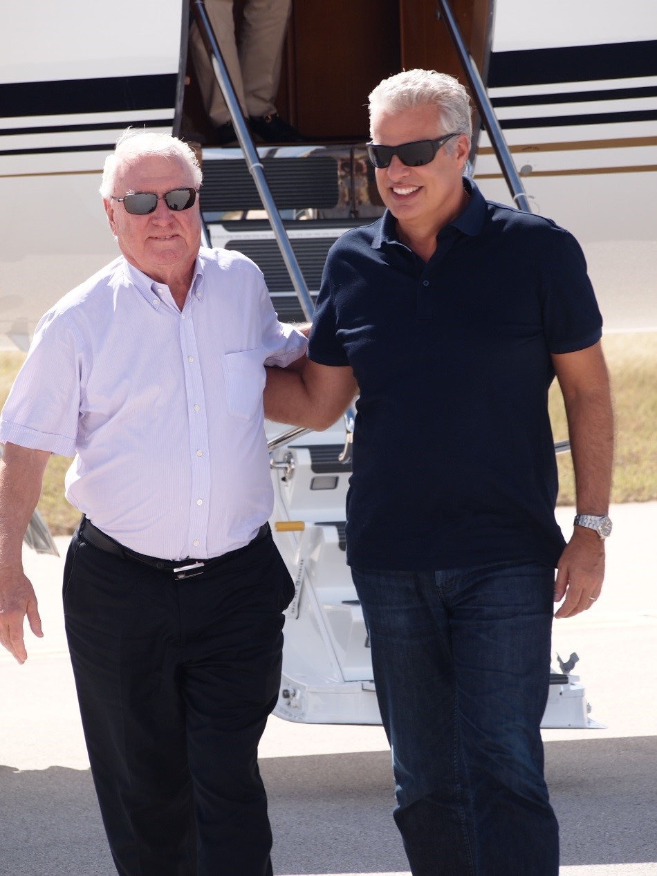 Craggy Range owner Terry Peabody and Cayman Cookout Host Eric Ripert