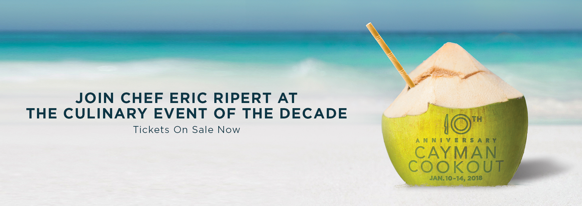 Join chef Eric Ripert at the culinary event of the decade