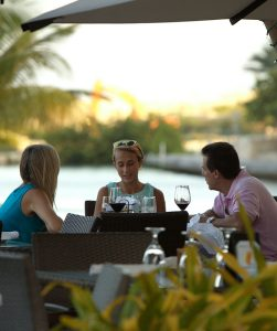 Dining at Camana Bay