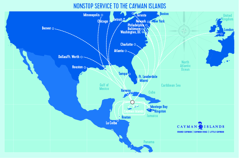 Flights to Cayman Islands, Grand Cayman | Cayman Airways